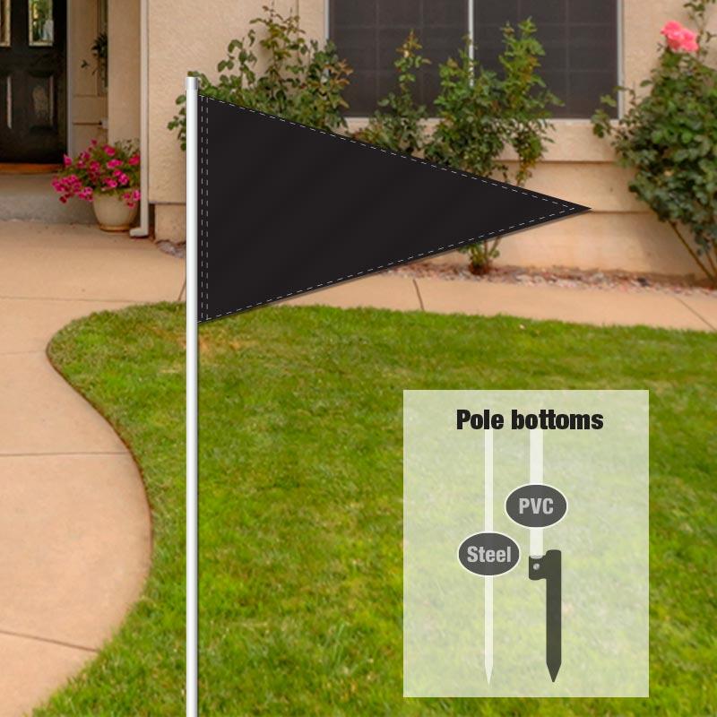 Independent Real Estate Pennant Flag-BLACK001_FLG_7