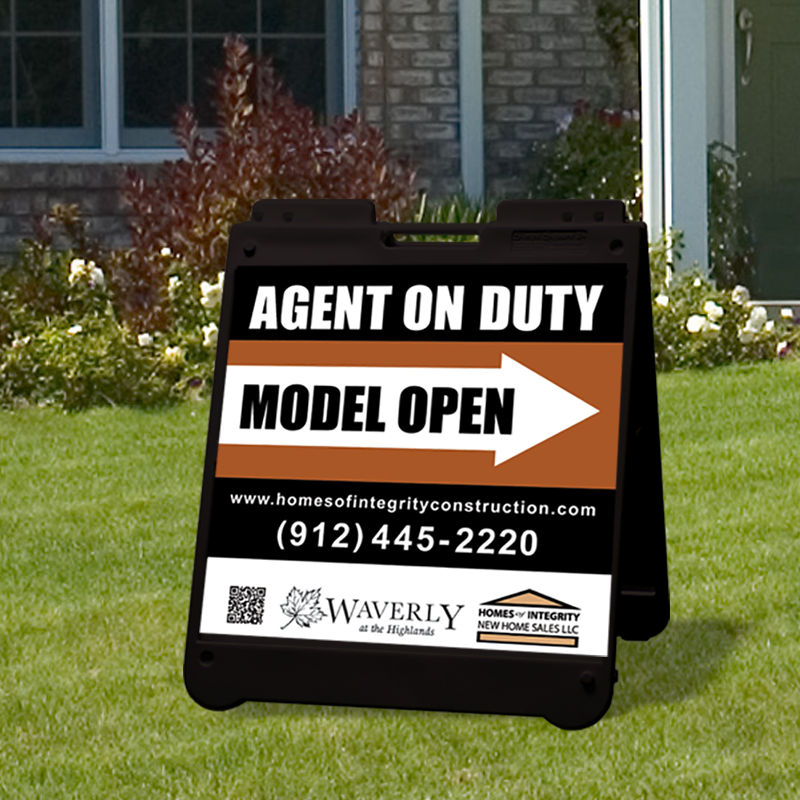 Independent Real Estate Open House & Directional Signs-BS24_BLK_7