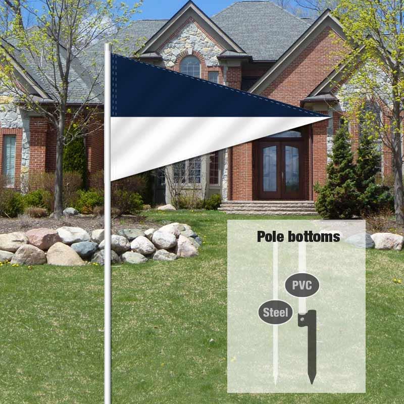 Independent Real Estate Pennant Flag-DBLUEWHT_FLG_7