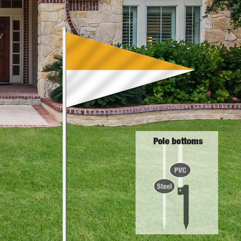 Independent Real Estate Pennant Flag-GOLDWHTE_FLG_7