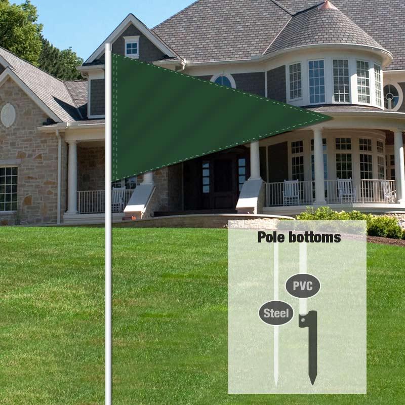 Independent Real Estate Pennant Flag-GREEN001_FLG_7