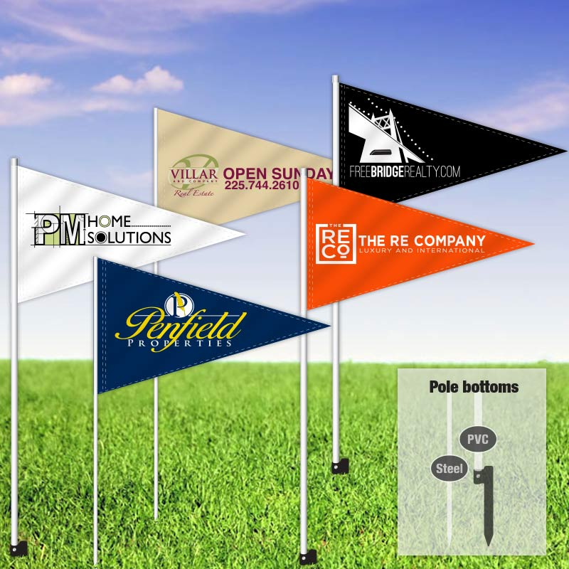 Independent Real Estate Pennant Flag-INDFLAGS_P