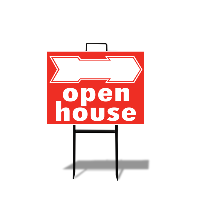 Independent Real Estate Open House & Directional Signs-INDSTOCK294