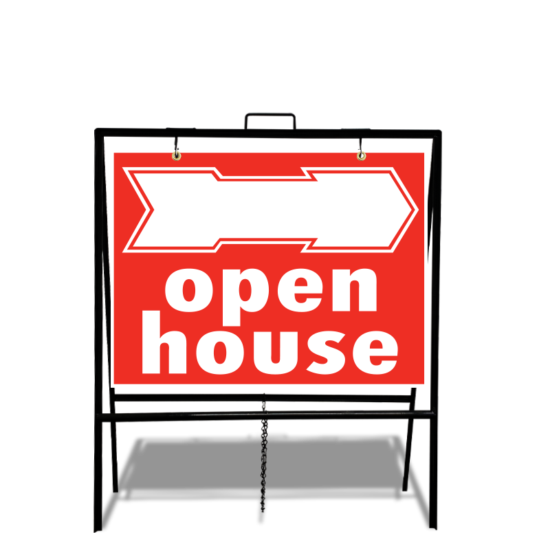 Independent Real Estate Open House & Directional Signs-INDSTOCKA229