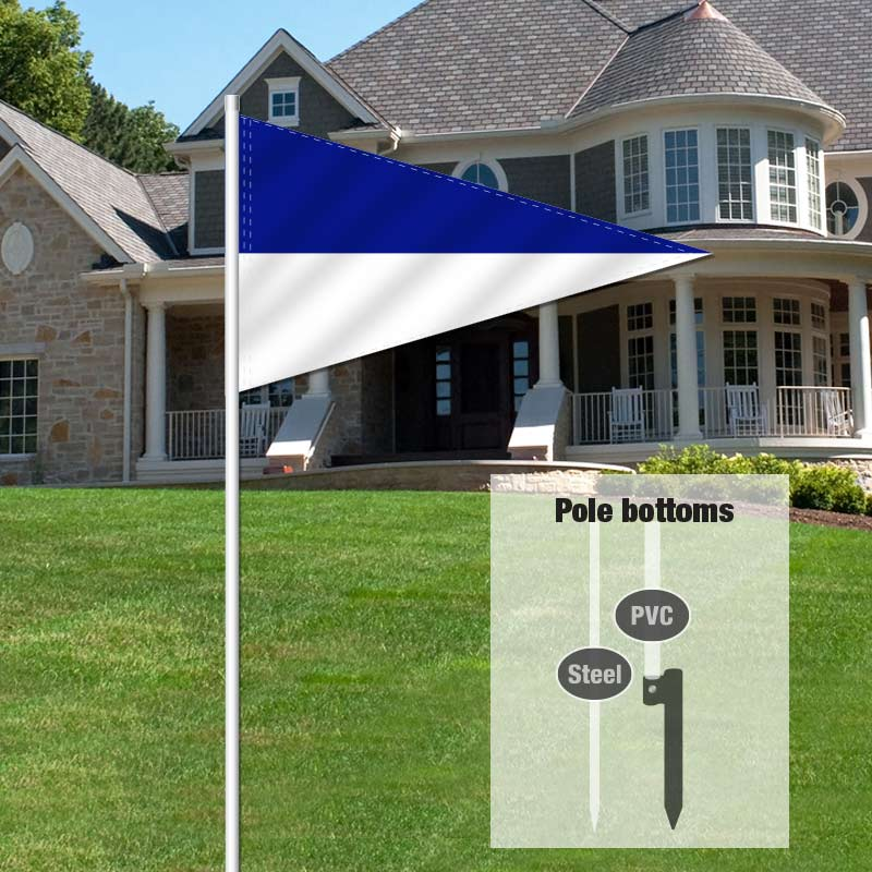 Independent Real Estate Pennant Flag-LBLUEWHT_FLG_