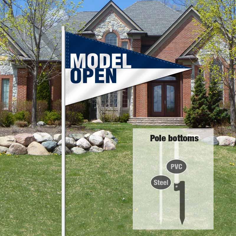 Independent Real Estate Pennant Flag-MODELOPN_FLG_7