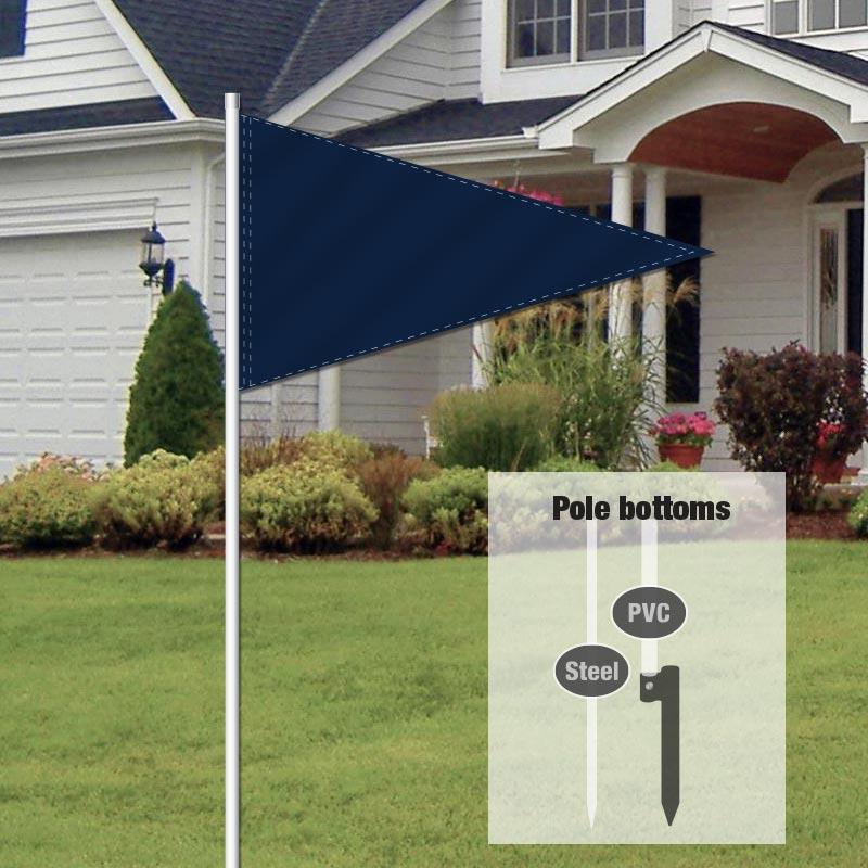 Independent Real Estate Pennant Flag-NAVYBLUE_FLG_7