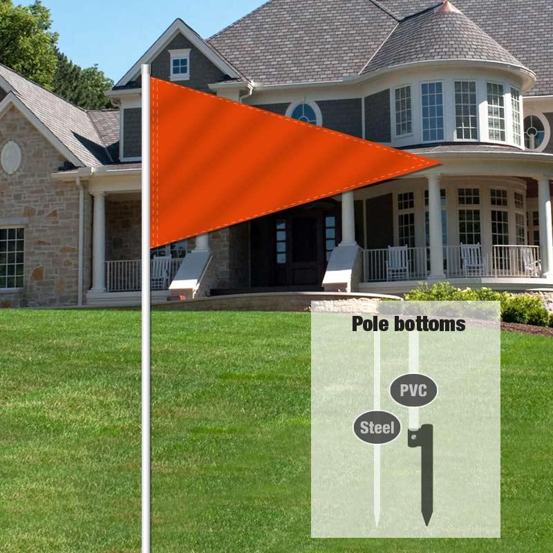 Independent Real Estate Pennant Flag-ORANGE01_FLG_7