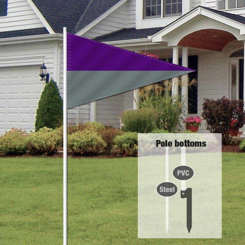 Independent Real Estate Pennant Flag-PRPLGRAY_FLG_7