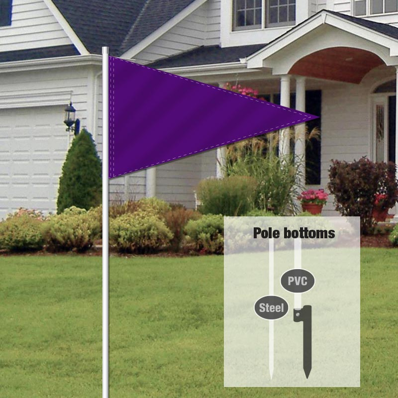 Independent Real Estate Pennant Flag-PURPLE01_FLG_7
