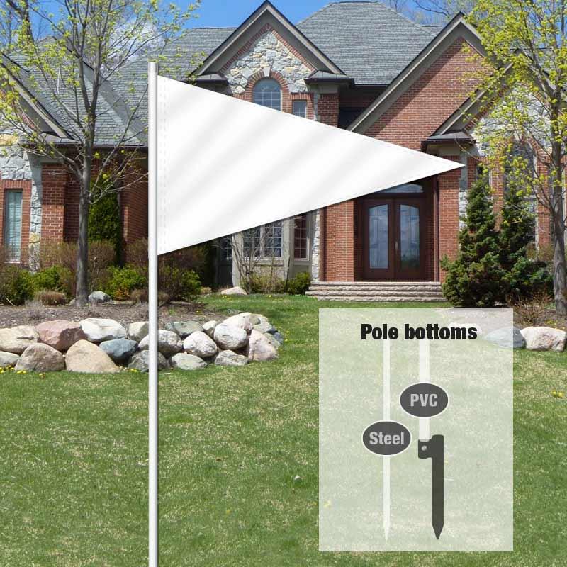 Independent Real Estate Pennant Flag-WHITE001_FLG_7