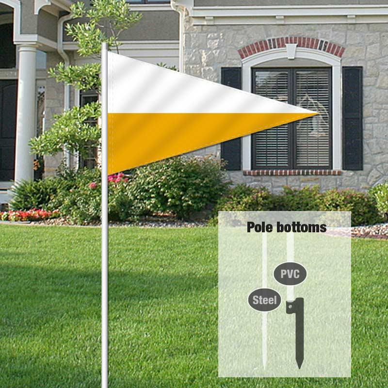 Independent Real Estate Pennant Flag-WHITEGLD_FLG_7