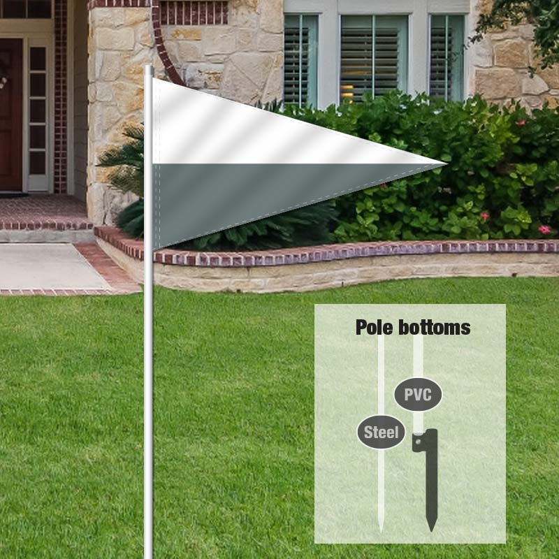 Independent Real Estate Pennant Flag-WHITEGRY_FLG_7