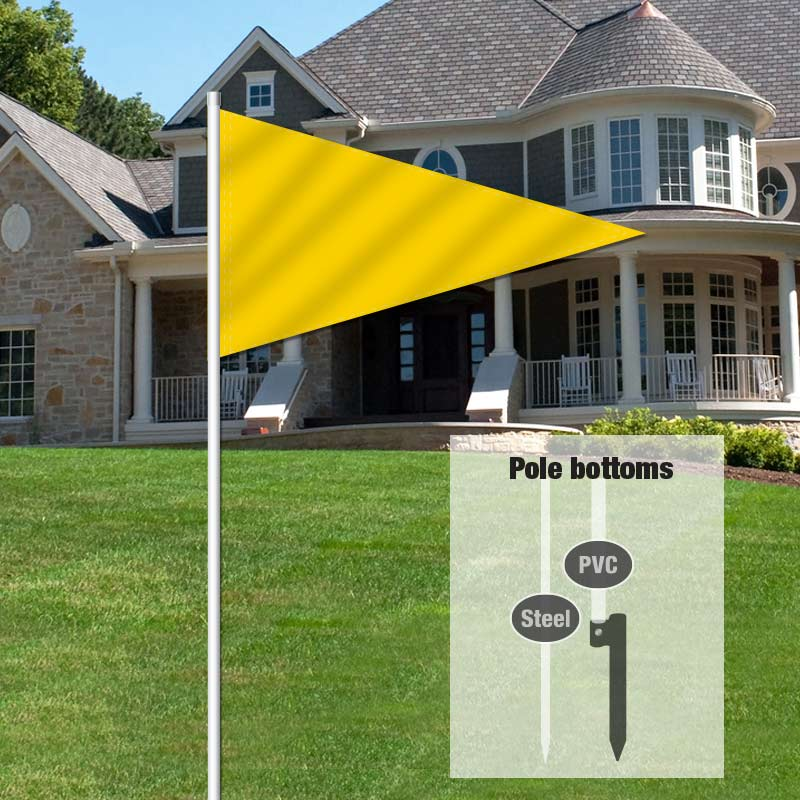 Independent Real Estate Pennant Flag-YELLOW1_FLG_7